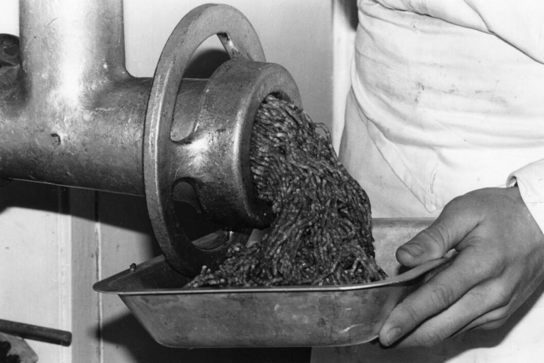 KVERN: Det å kverne egen kjøttdeig har man gjort i mange år, men i dag er det dessverre ikke så mange som velger dette, til tross for at det er mye sunnere enn butikk-variantene.  Foto: Mary Evans Picture