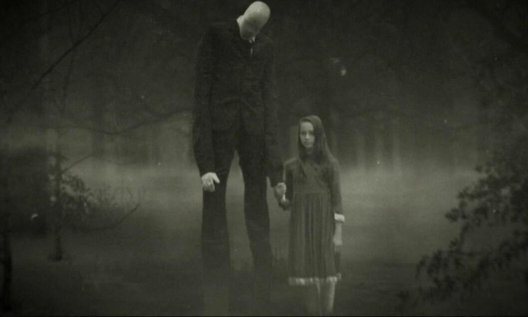 <strong>SLENDERMAN:</strong> «Beware the Slenderman», utforsker Internettmyten om «Slenderman», som beskrives som en høy, tynn mann uten ansikt.  Foto: HBO