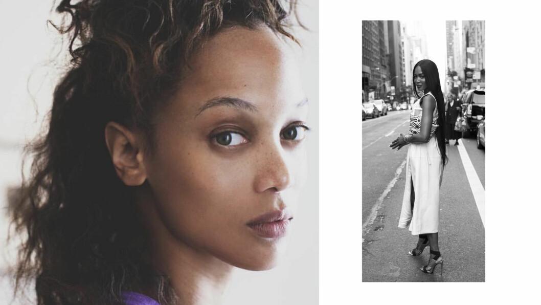TYRA BANKS: Supermodell Tyra Banks (t.v.) åpnet opp om den offentlige feiden hun har hatt med modellkollega Naomi Campbell (t.h.) under «Skavlan». Foto: NTB Scanpix