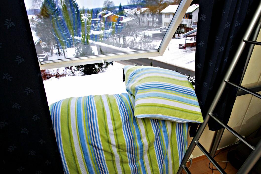LUFTING: Heng gjerne ut dyne og pute i sterk kulde i vinter, luftingen bidrar til å holde mengden midd nede. Foto: INGAR STORFJELL, Aftenposten