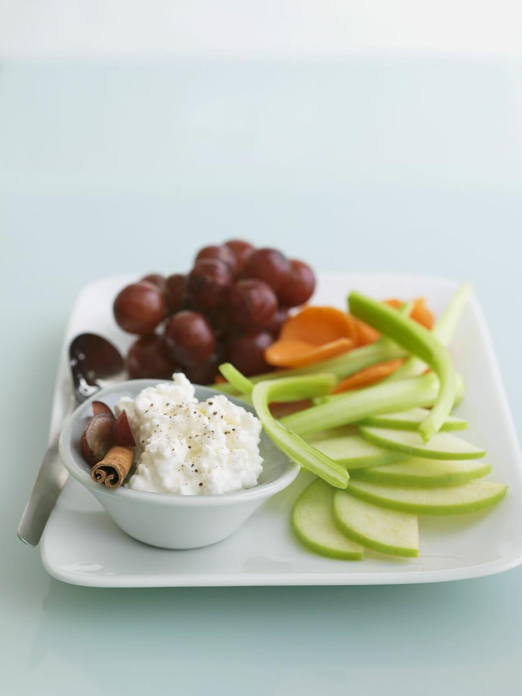 PROTEINER: Cottage Cheese er er flott måte å få i seg proteiner på! Foto: Bon Appetit
