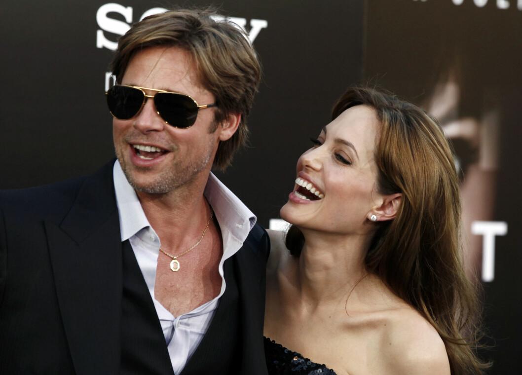 <strong>SKILLES:</strong> Angelina Jolie (41) har tatt ut skilsmisse fra ektemannen Brad Pitt (52).  Foto: Ap