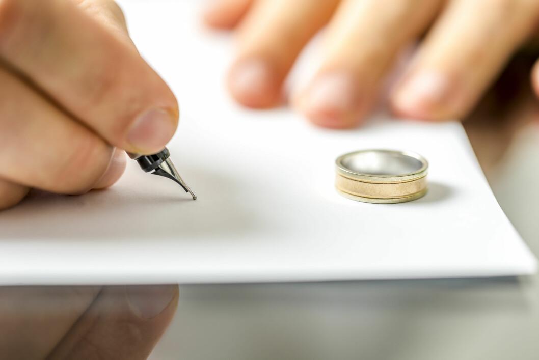 FORHASTET? Statistikken kan tyde på at det er nettopp de som stresset inn i ekteskapet tidlig i 30-årene som oftest skiller seg. Men det er ikke nødvendigvis slik. Foto: Shutterstock / Gajus