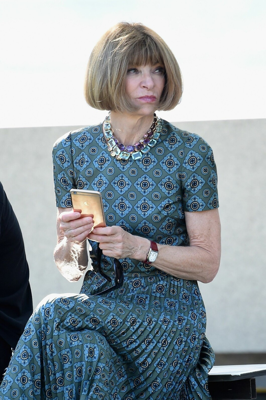 NEW YORK, NY - SEPTEMBER 07: Vogue Editor-in-Chief Anna Wintour attends the Kanye West Yeezy Season 4 fashion show on September 7, 2016 in New York City.   Jamie McCarthy/Getty Images for Yeezy Season 4/AFP == FOR NEWSPAPERS, INTERNET, TELCOS & TELEVISION USE  data-cke-saved-ONLY == ONLY == Foto: Afp