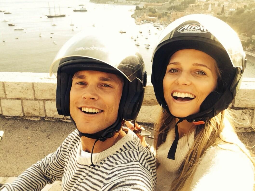Sommeren 2014. Andreas og Margrethe i Monaco, der han bor.  Foto: Privat