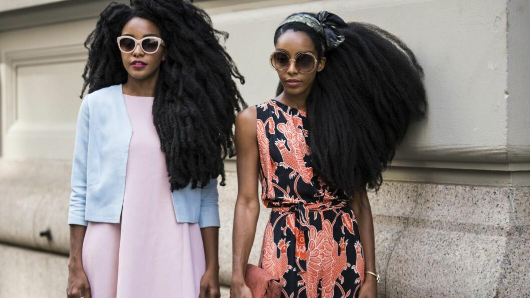 HOT GATEMOTE: New Yorkerne har alltid vært flinke på å bare ha på seg akkurat det de har lyst til - og de digger vi. Vi elsker også håret på disse fantastiske damene! FANTASTISK. Foto: Rex Features