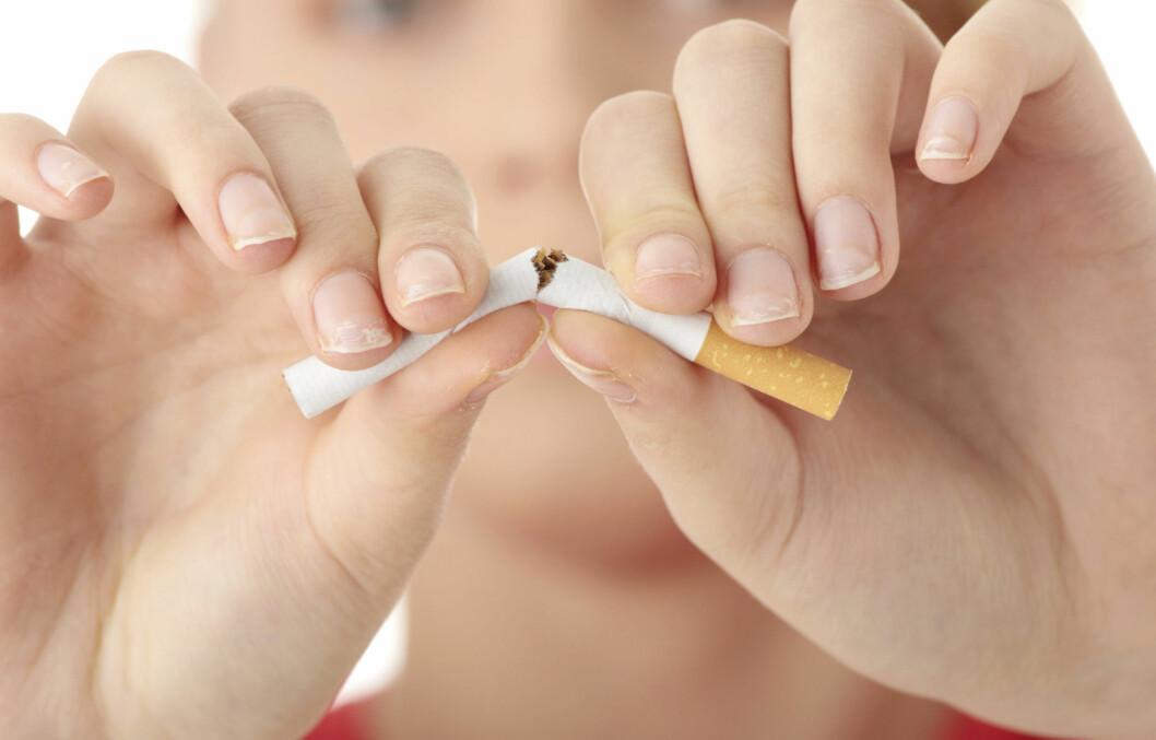 SLUTTE Å RØYKE: Kroppen din reagerer på røykekutt svært raskt, og allerede etter noen dager vil du kunne merke en positiv effekt.  Foto: Thinkstock