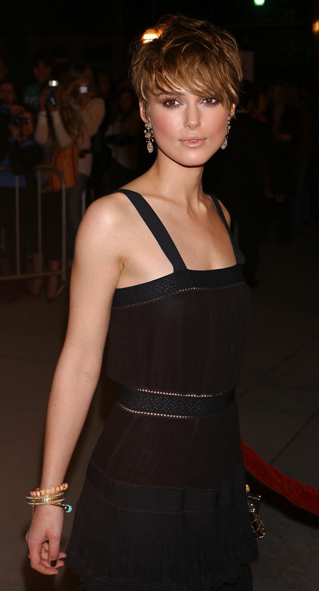 Keira Knightley under filmpremieren på filmen «The Jacket» 2005. Foto: Ap