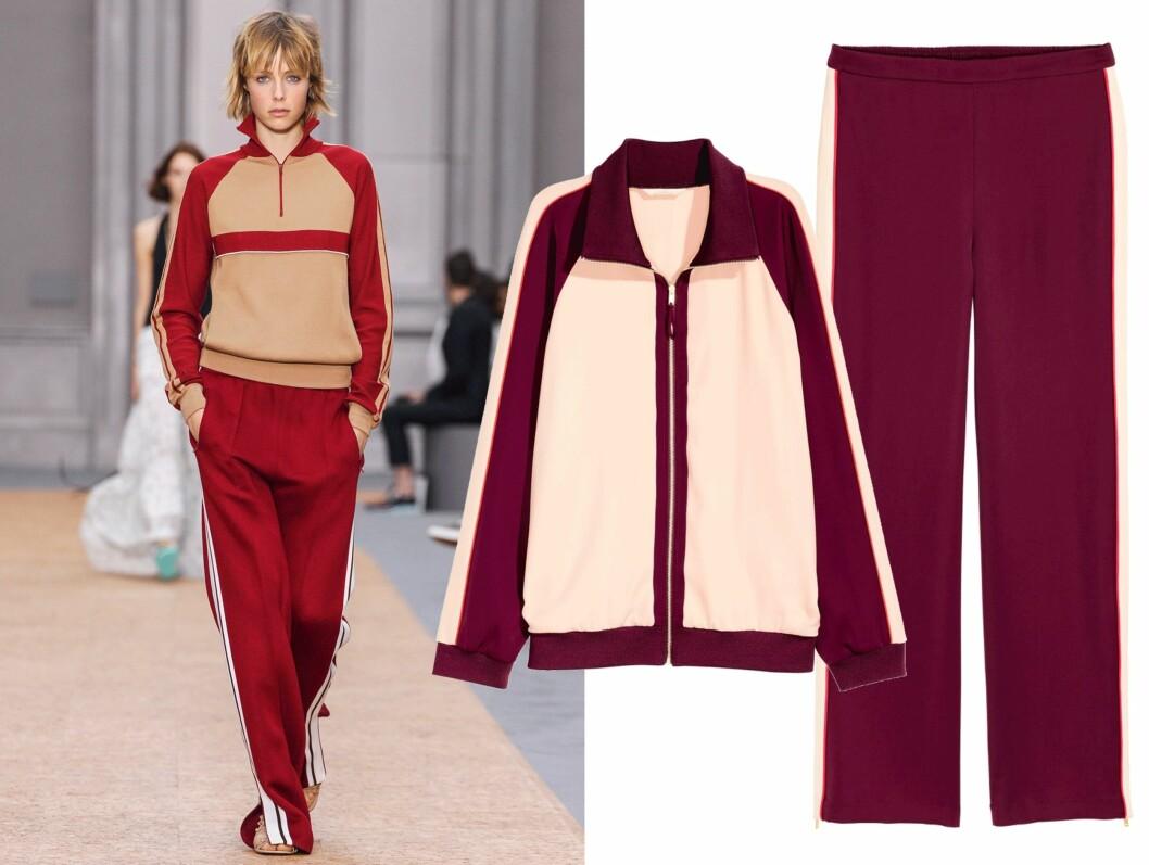 CHLOE VS H&M: Dressen til venstre er fra franske Chloe (pris ukjent), men til høyre finner du kopien! Jakke fra H&M, kr 399. Bukse fra H&M, kr 399. Foto: Scanpix, Produsenten