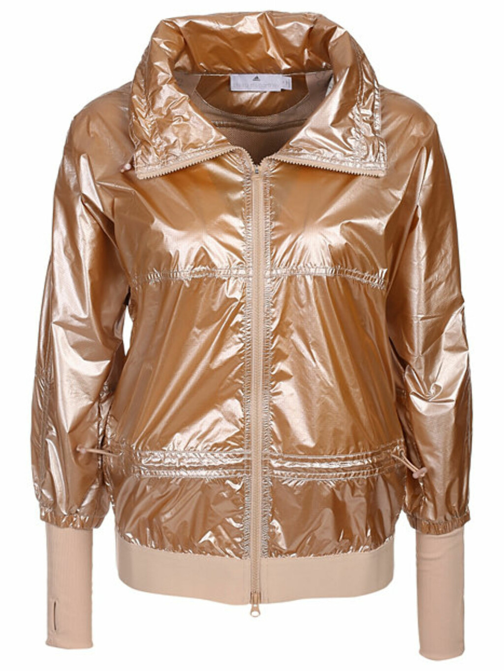 Metallisk jakke fra Adidas by Stella McCartney via Nelly.com | kr 1795
