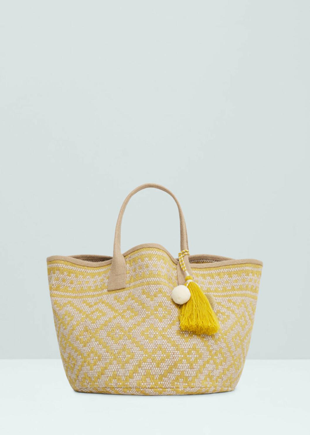 Veske fra Mango | kr 199 | http://shop.mango.com/NO/p1/damer/tilbeh%C3%B8r/vesker/skuldervesker/jacquard-veske-i-jute/?id=63037573_12&n=1&s=accesorios.bolsos&ts=1470136010811