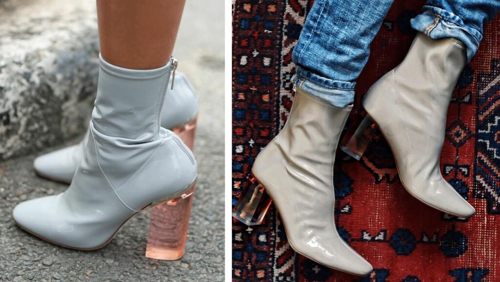 BILLIG VS DYR: Ser du hvilke sko som er av den dyre luksussorten? Skoene til venstre er fra Dior og koster flere tusener av kroner. De til høyre er fra Zara, og ble utsolgt på kort tid etter at de kom ut. Foto: Scanpix, Darjabarannik.com