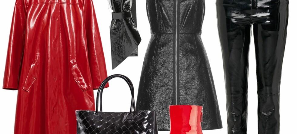 Høstens hotteste klær kommer i en glossy variant