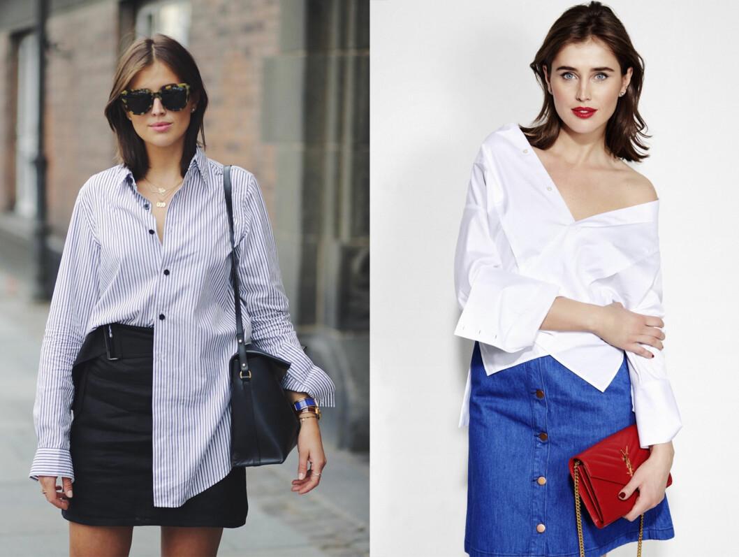 <strong>Basisgarderoben:</strong> Alle kvinner bør ha en klassisk skjorte i skapet. Enten den er stripete eller ensfarget, kommer disse plaggene godt med i alle anledninger. Foto: Marianne Theodorsen og Truls Qvale