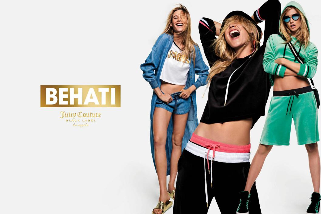 <strong>BEHATI PRINSLOO x JUICY COUTURE:</strong> Victoria&#039;s Secret-modellen har gjort et samarbeid med kosedress-merket. Foto: Splash News