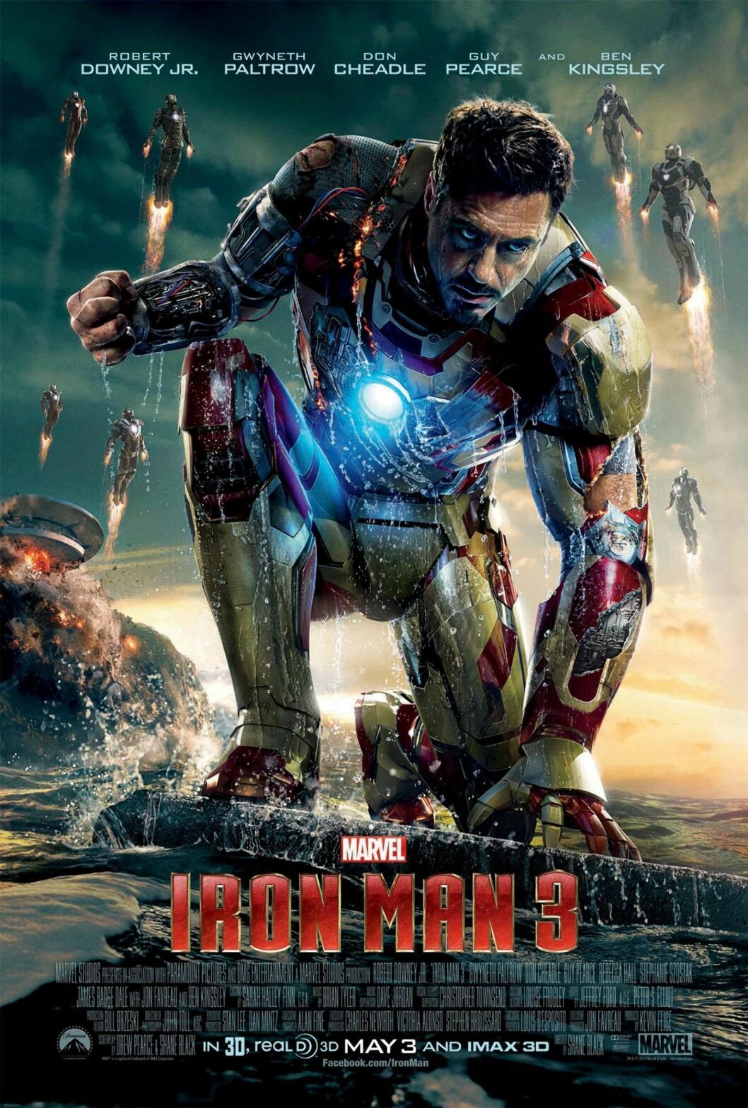 Iron man 3 (2013): tjente 1,21 milliarder dollar.  Foto: MARVEL STUDIOS / Album