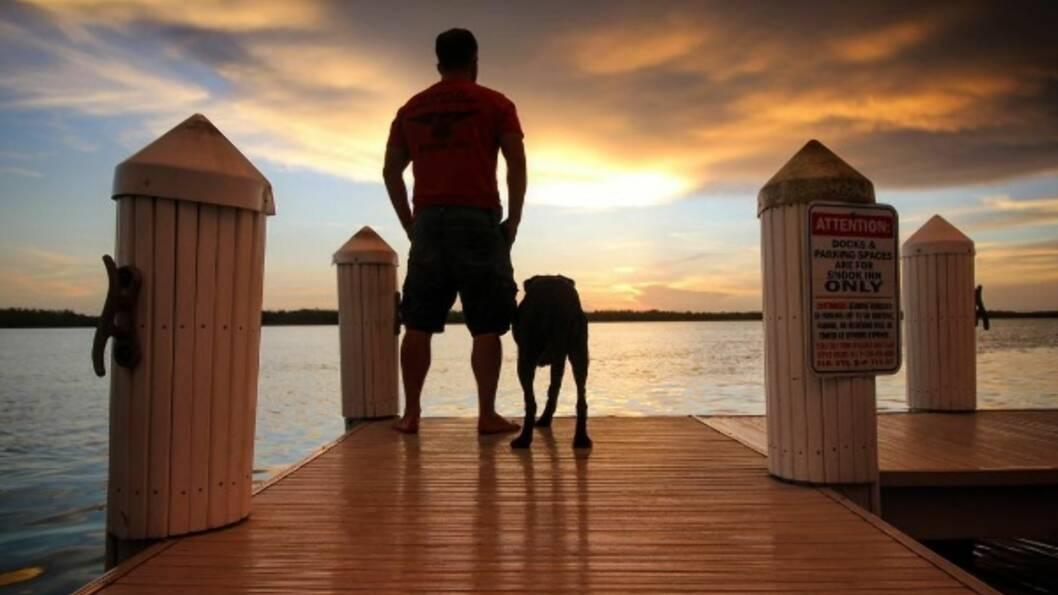 TAR FARVEL MED SIN BESTE VENN: Da Robert Kugler fikk vite at hunden Bella hadde tre til seks måneder igjen å leve, tok han henne med på sitt livs reise. Foto: Skjermdump fra Instagram / @robkugler