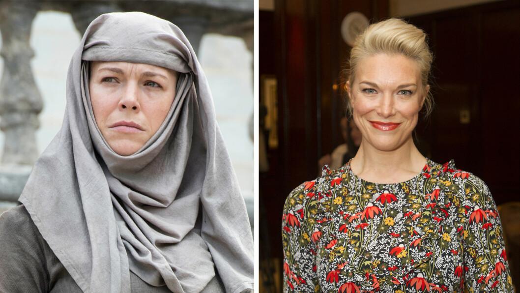 <strong>GAME OF THRONES-SKUESPILLERNE:</strong> Den britiske skuespilleren Hannah Weddingham spiller Septa Unella i Game of Thrones.    Foto: NTB Scanpix/ HBO