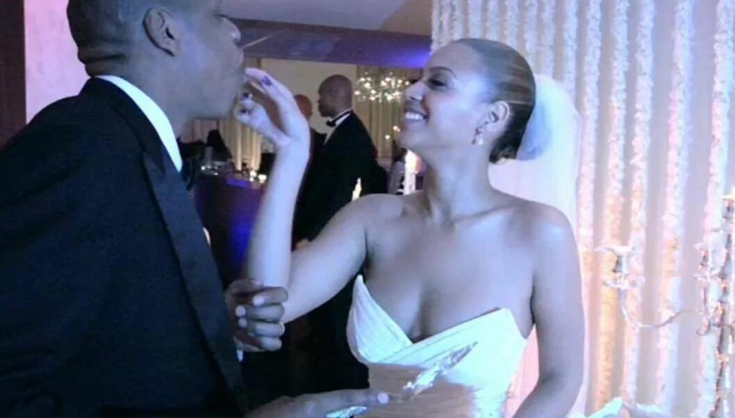 LYKKELIGE: Beyoncé og Jay Z giftet seg 4. april 2008. Dette bildet er lånt fra Beyoncés video til Lemonade-albumet hun ga ut tidligere i år. Foto: Skjermdump // Lemonade // iTunes