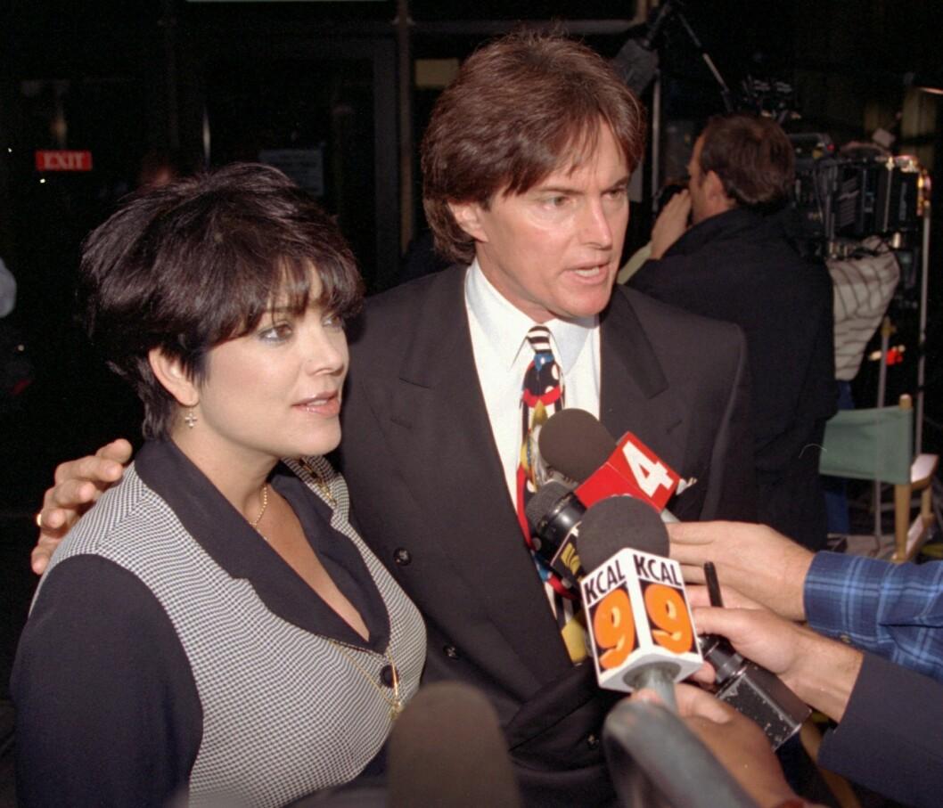1995: Jenner sammen med ekskona Kris (59). Foto: Ap