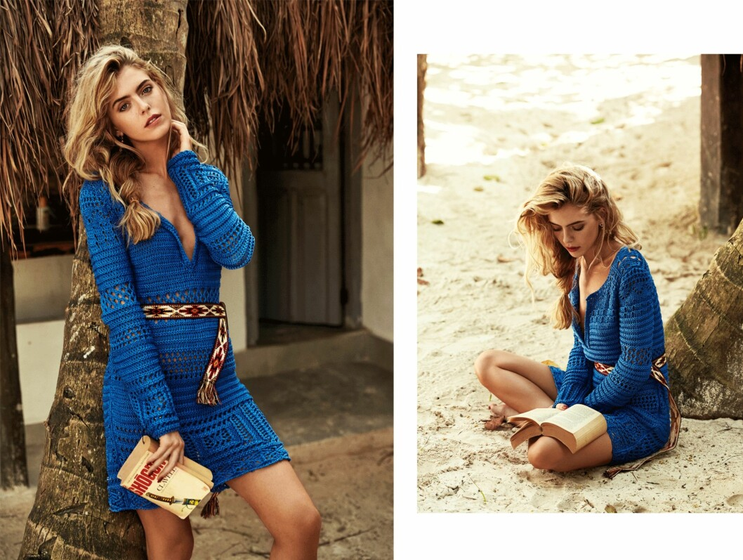 Kjole fra Emilio Pucci, kr 5900. Belte fra Isabel Marant Etoile, kr 580.  Foto: Lasse Wind