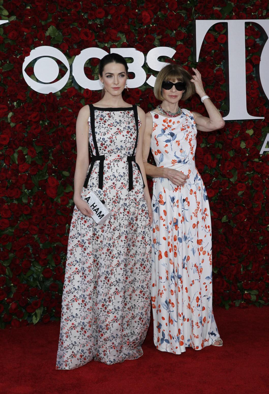 TONY AWARDS 2016: Bee Shaffer og Anna Wintour. Foto: Reuters