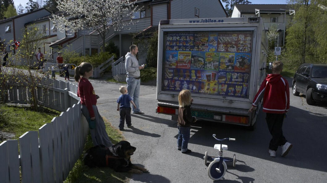 ISBILEN: Har du noen gang lurt på hvorfor Isbilen spiller Norge Rundt-melodien? Foto: Samfoto