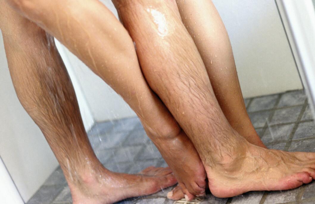 VÅTT: En kjapp en i dusjen kan være en grei løsning for å krydre opp sexlivet. Foto: Scanpix/NTB