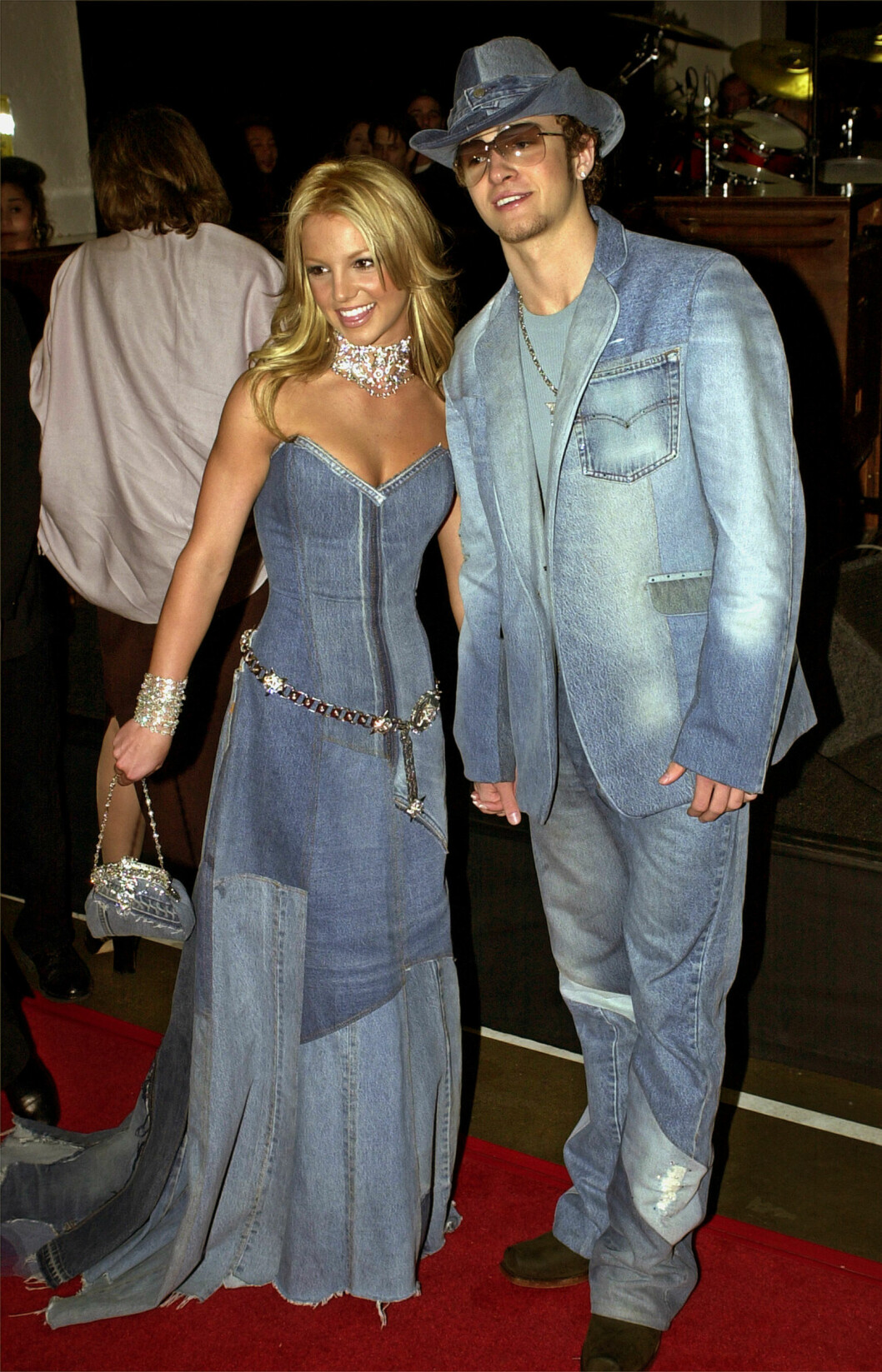 <strong>DATET:</strong> Britney Spears og Justin Timberlake var sammen i et par år før popstjernene gikk hvert til sitt. Hvem kan vel glemme dette legendariske denim-bildet? Foto: Ap