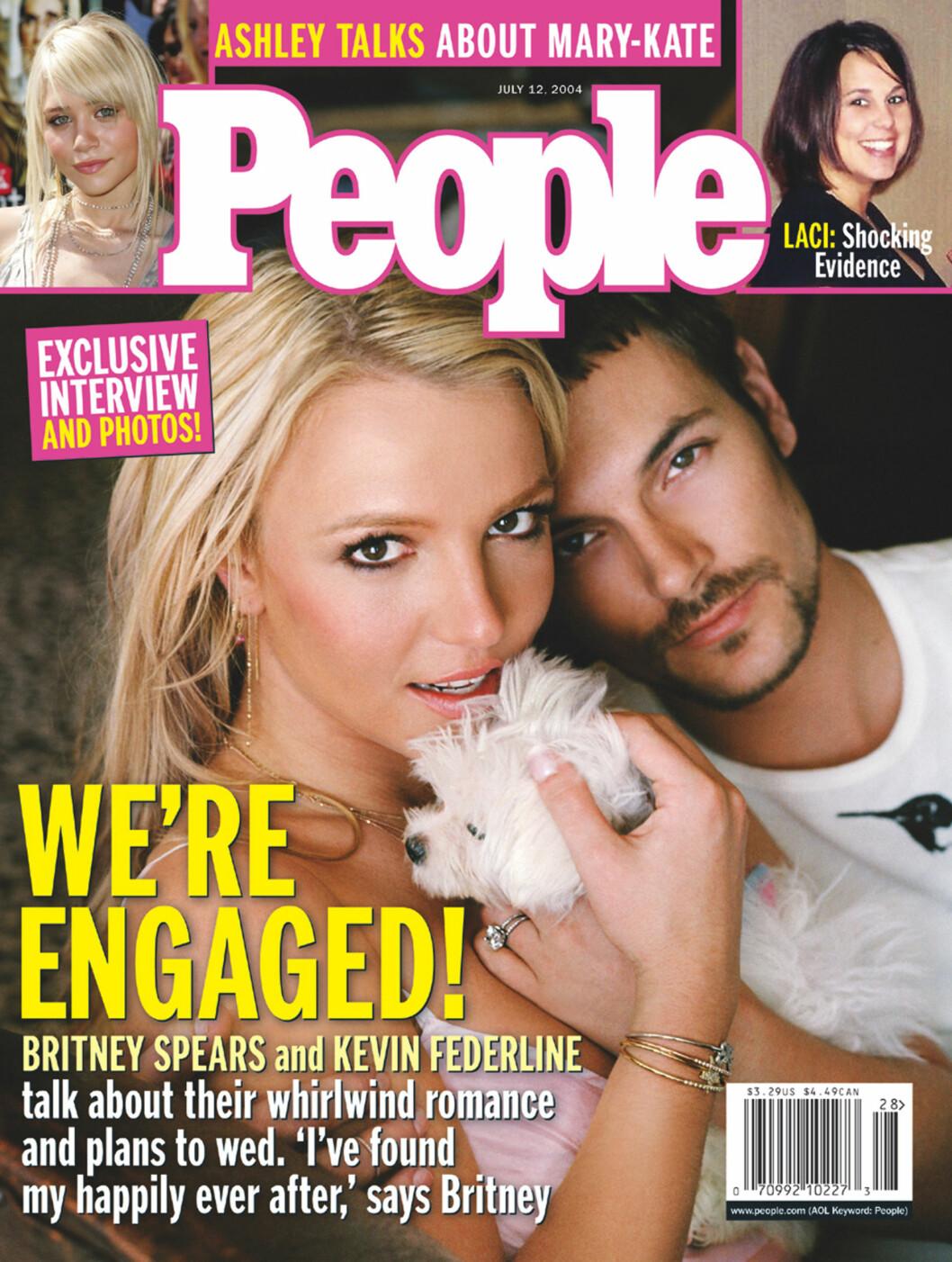 <strong>FORLOVET SEG:</strong> Britney Spears og Kevin Federline har fått to barn sammen i ekteskapet sitt. Det tok slutt i 2007. Foto: Ap