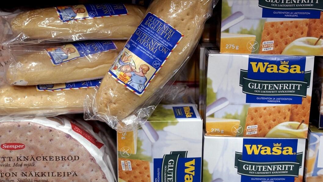 GLUTENFRIE ERSTATNINGSPRODUKTER INNEHOLDER MYE STIVELSE: Cluet er å holde seg unna de raske karbohydratene, enten du spiser glutenfritt eller ei. Velger du glutenfrie erstatningsprodukter heller enn vanlig brød og pasta, risikerer du å få i deg mye stivelse og sukker.  Foto: TT NYHETSBYRÅN