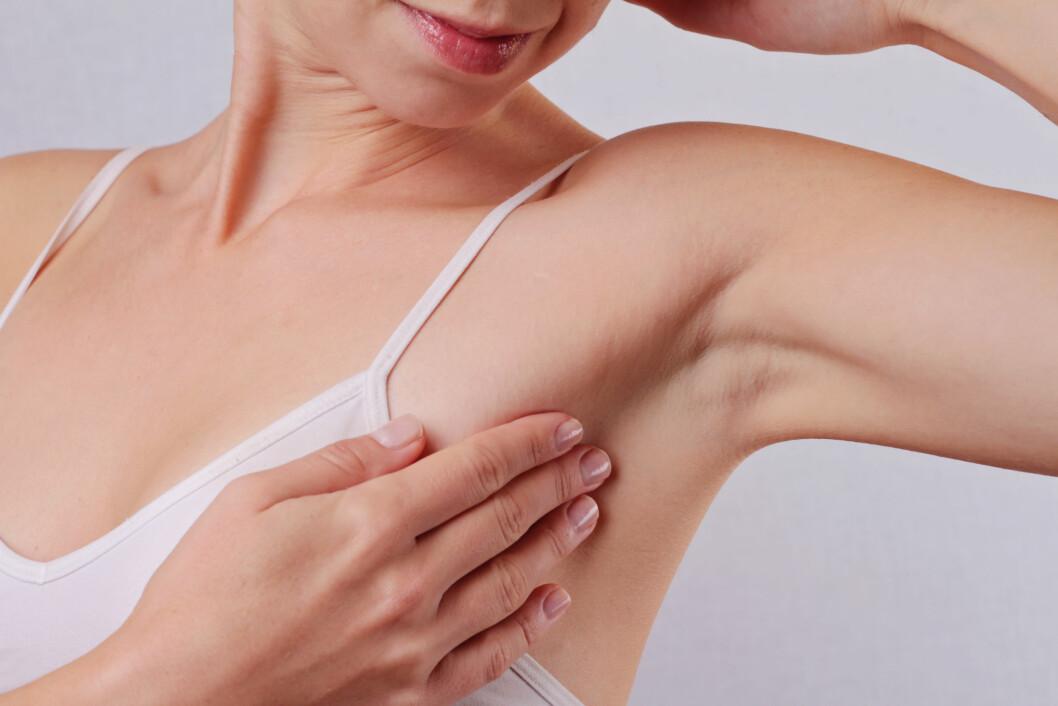 SVETTE: Å svette er kroppens naturlige måte å kjøle ned kroppen på. Foto: Shutterstock / Albina Glisic