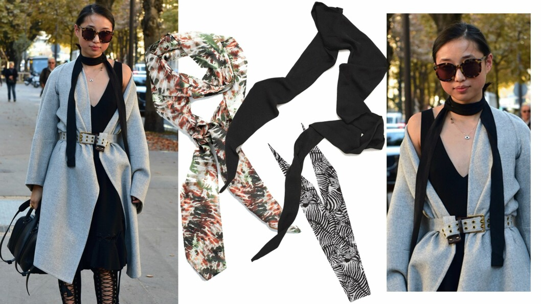 DAGENS ANTREKK: For å gi antrekket et løft, er det så lekkert å bruke en slikt sjal! Foto: Scanpix, Produsentene, Asos.com