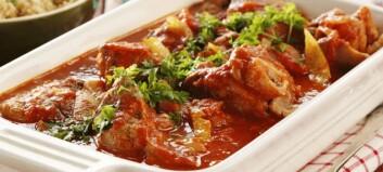 #Familiesøndag: Lammebog med safran, sitron og tomat