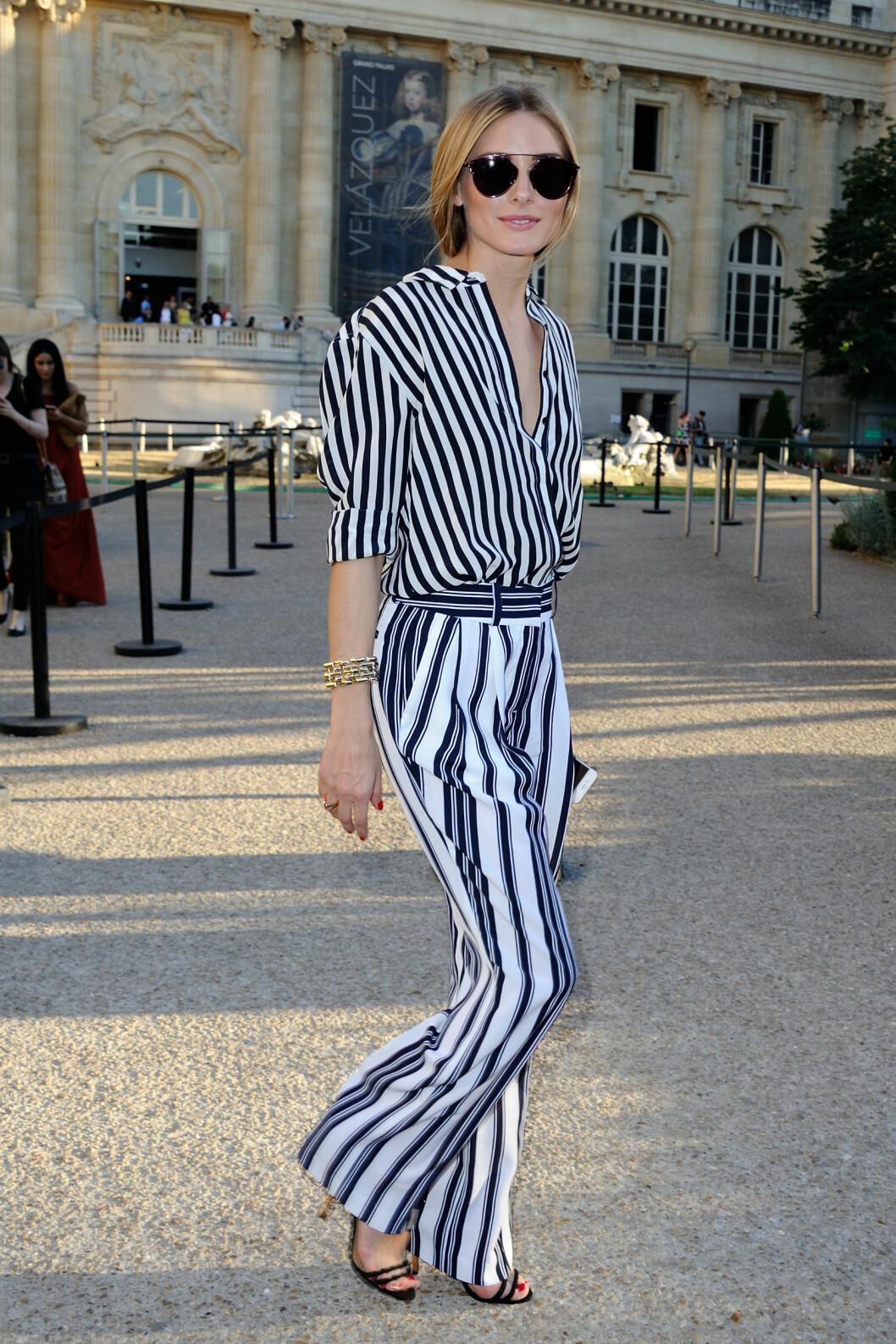 Flotte Olivia Palermo i doble striper. Vi elsker looken! Foto: Scanpix