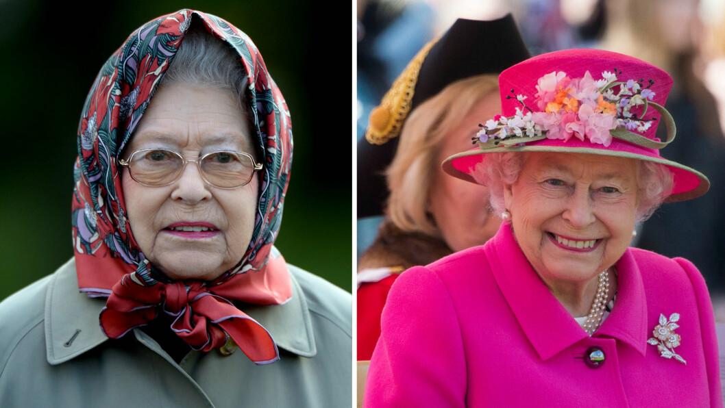 PÅ PRIVATEN VS. PÅ JOBB: Dronning Elizabeth er mer casual antrukket når hun ferdes i naturen hjemme på landsstedet enn når hun representerer sitt dronningrike.  Foto: NTB Scanpix