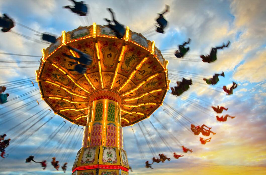 TIVOLI: Er du glad i actionfylt moro, sukkerspinn og artige karuseller burde du ta turen innom Lunds Tivoli under Strømsbrua i Stavanger i helgen! Foto: Illustrasjonsfoto / NTB Scanpix