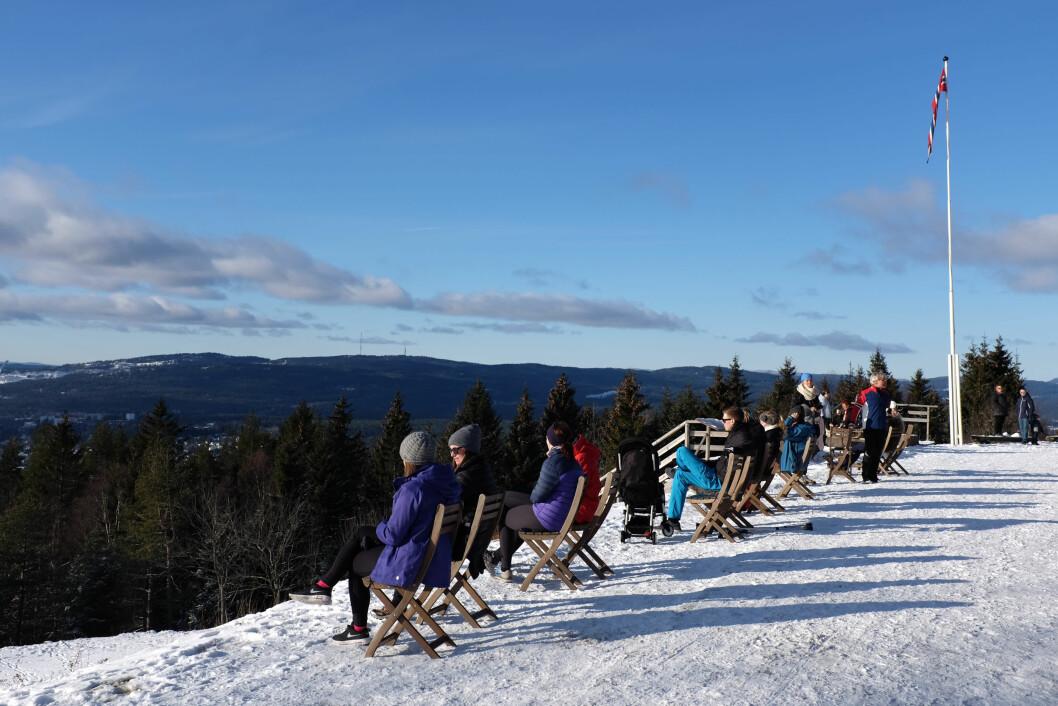 VAKKERT: Grefsenkollen har en av Oslos fineste utsikter! Foto: NTB Scanpix