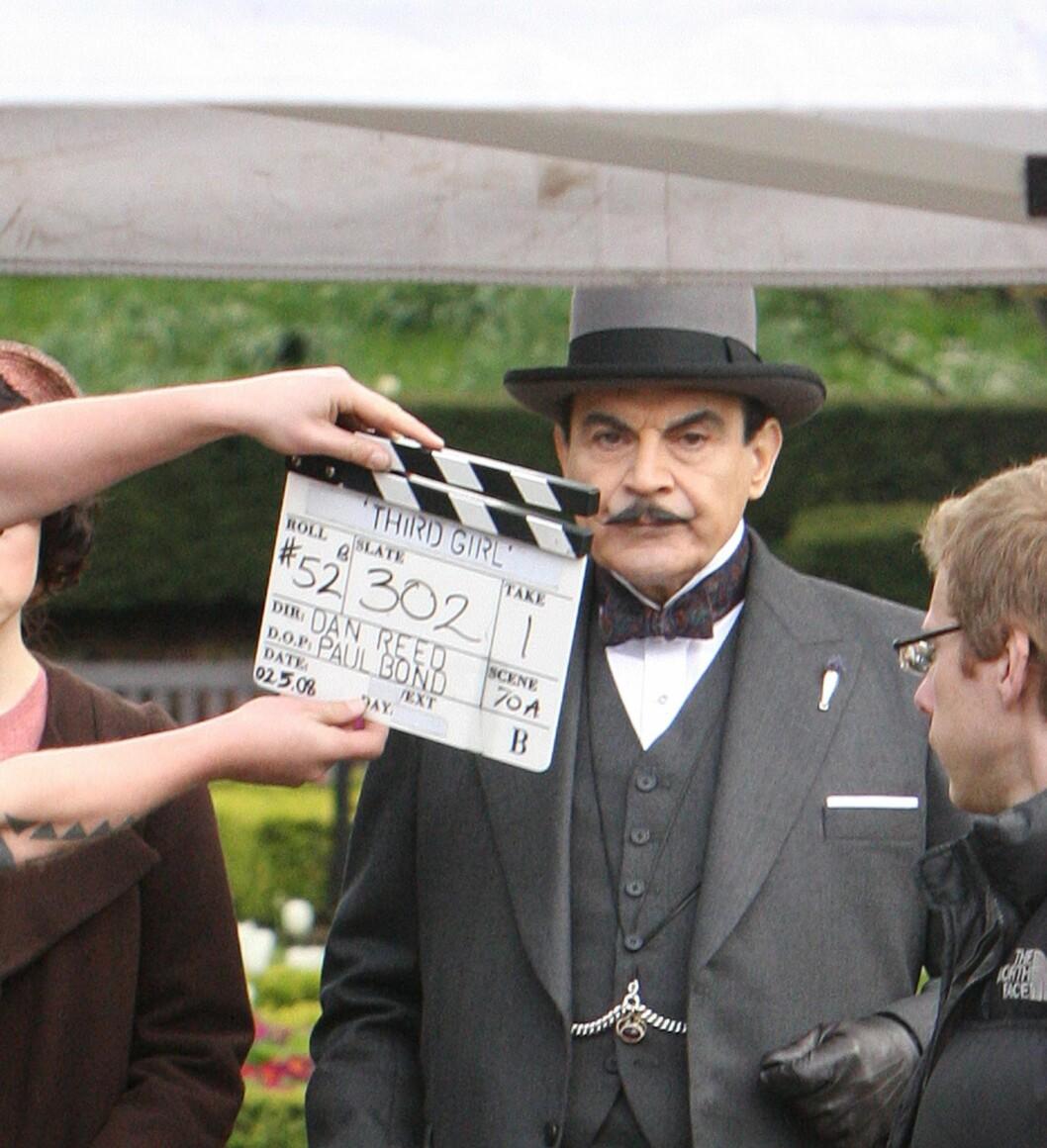 FAVORITT: David Suchet er Agatha Christies Poirot på lerretet, og godt kjent for oss nordmenn. Foto: NTB-Scanpix