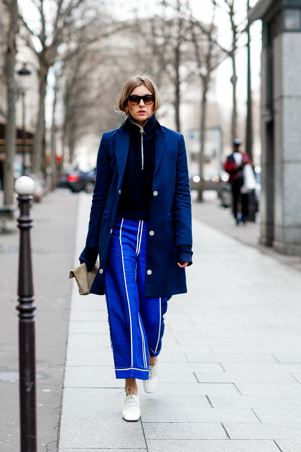 <strong>STREETSTYLE:</strong> Camille Charriere. Foto: Abaca