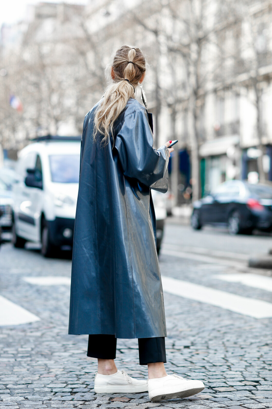 <strong>STREETSTYLE:</strong> Annie Georgia Greenberg. Foto: Abaca