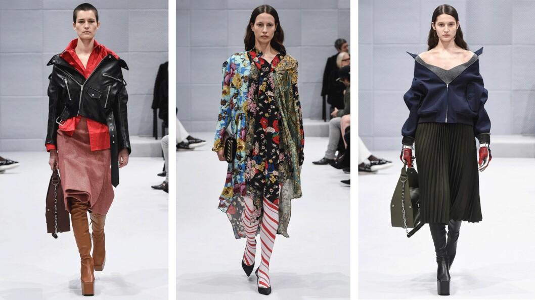 <strong>BALENCIAGA:</strong> Selve kolleksjonen til designer Demna Gvasalia fikk skryt, men han får kritikk for valg av modeller. Foto: Scanpix