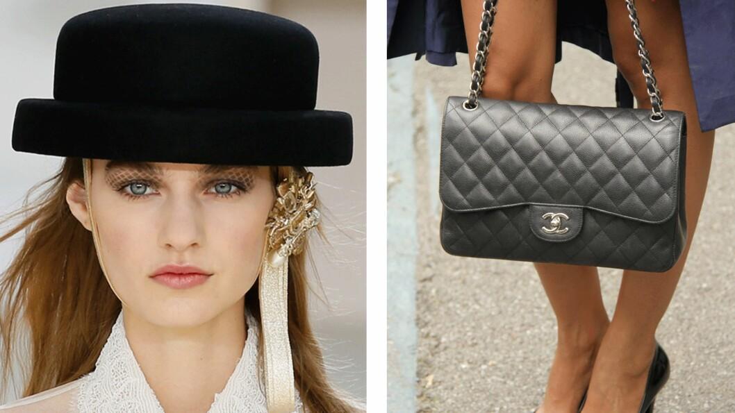 <strong>INSPIRERT AV SIN EGEN VESKE:</strong> Øyenskygge Chanel hadde valgt på modellene var inspirert av den klassiske vesken. Foto: Scanpix