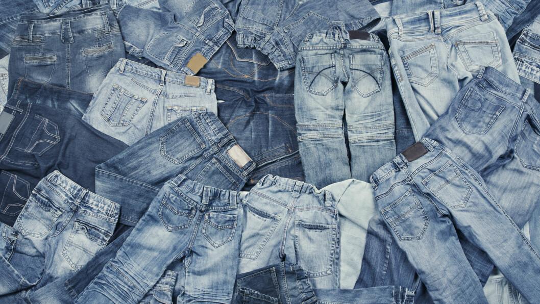 JEANS: Det er ikke så lett å finne den perfekte jeansen i denim-havet! Derfor har vi samlet sammen de beste tipsene, slik at du kan finne den som er ment for deg. Foto: Shutterstock / Inara Prusakova