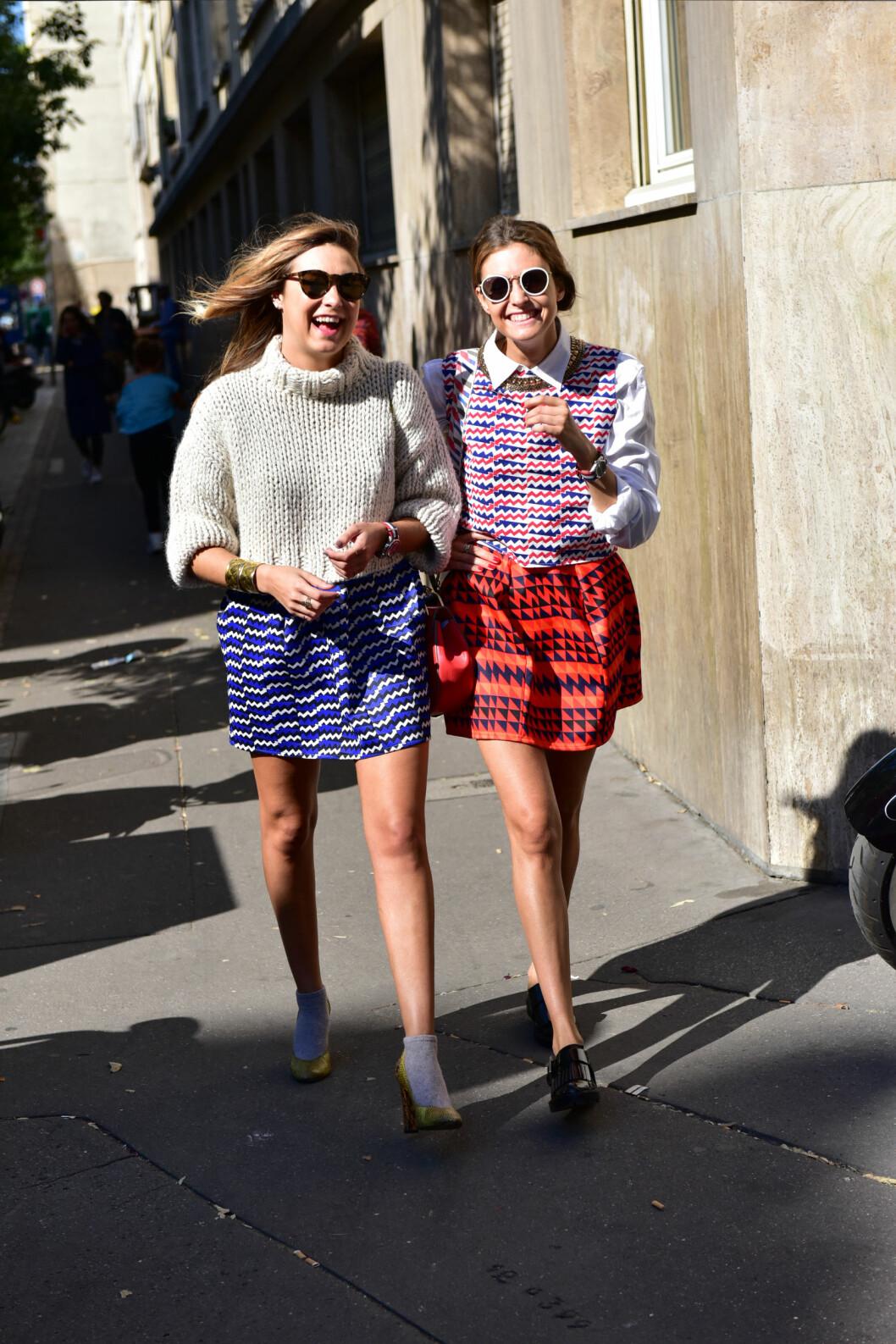 STYLINGMULIGHETER: Bruk miniskjørtet med en strikkagenser eller en søt bluse - her passer det meste! Foto: DPA