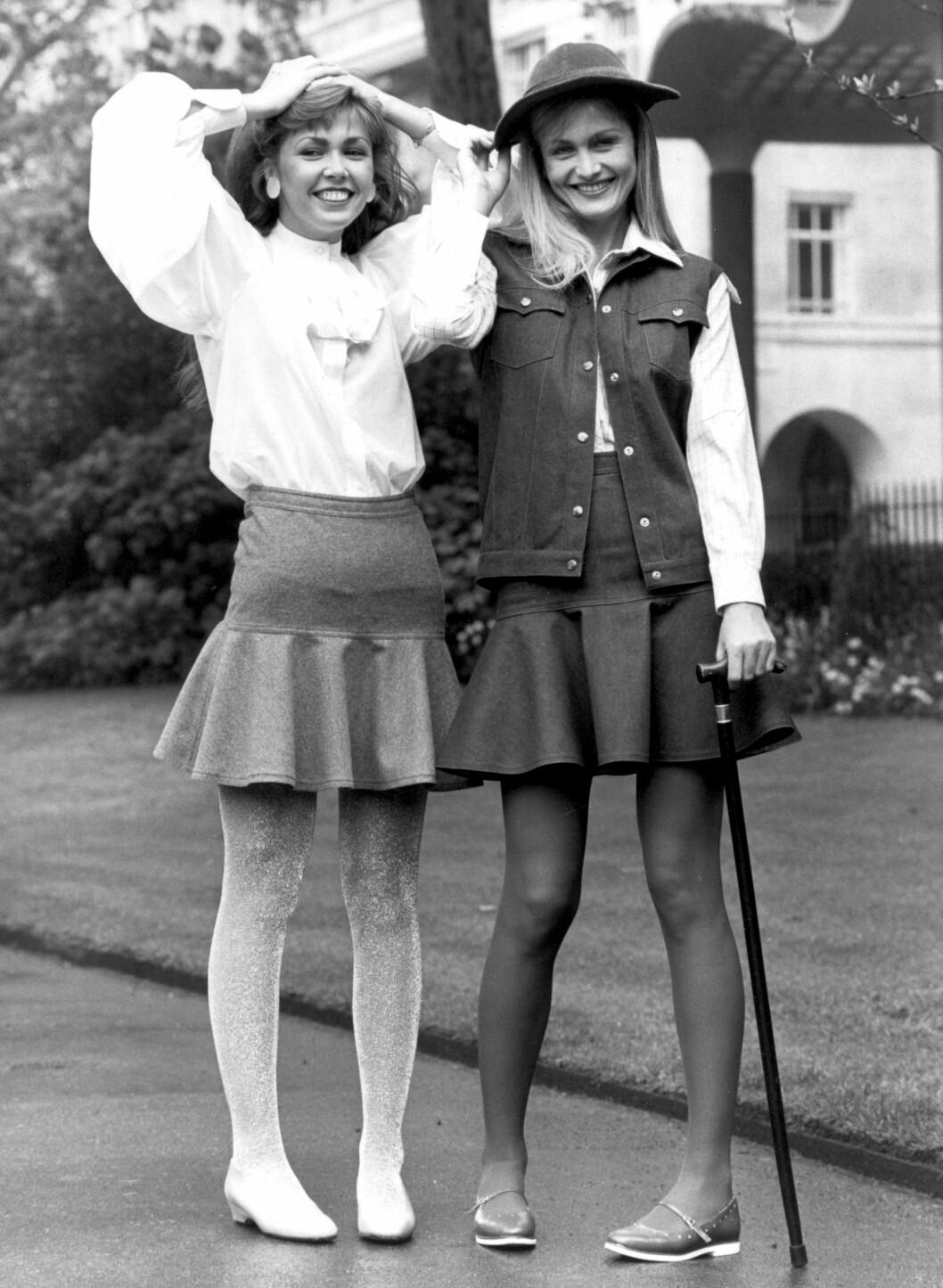 <strong>1981:</strong> Modellene poserer for Mary Quants høstkolleksjon i 1981.  Foto: Topfoto