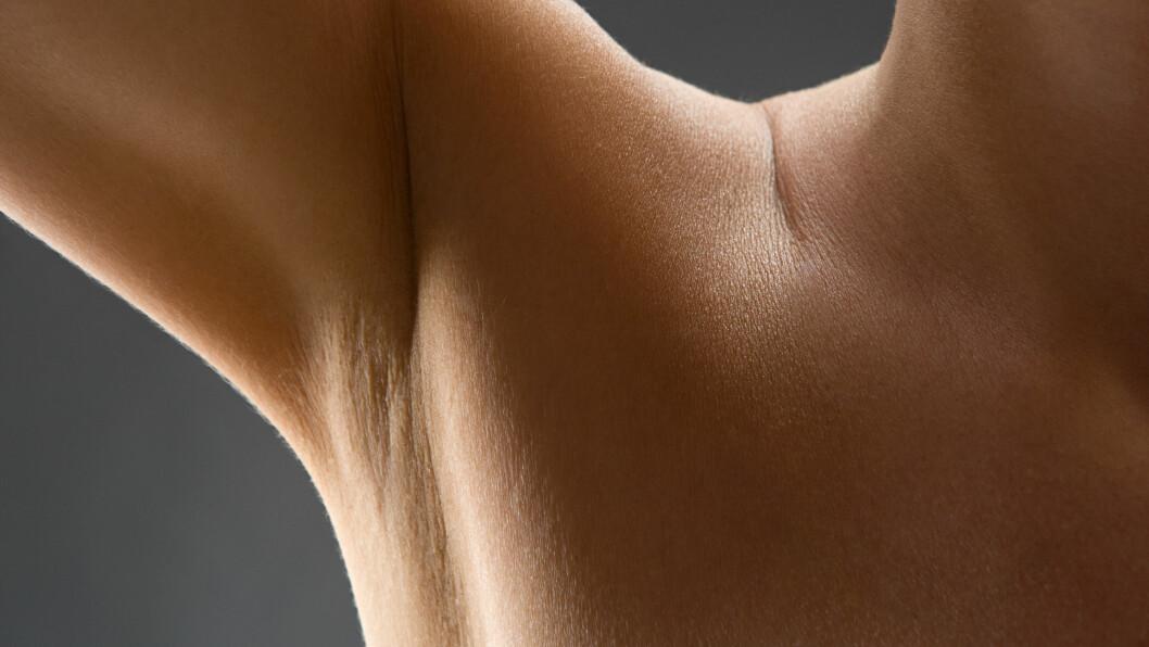 <strong>ARMHULER:</strong> Det er lettere sagt enn gjort å få plettfri hud under armene. Heldigvis har ekspertene en mistanke om hvorfor vi får mørkere hud og inngrodde hår under armene, og løsningen handler ikke bare om hvordan vi ser ut, men kan også være bra for helsen og bakteriefloraen vår. Foto: Image Source