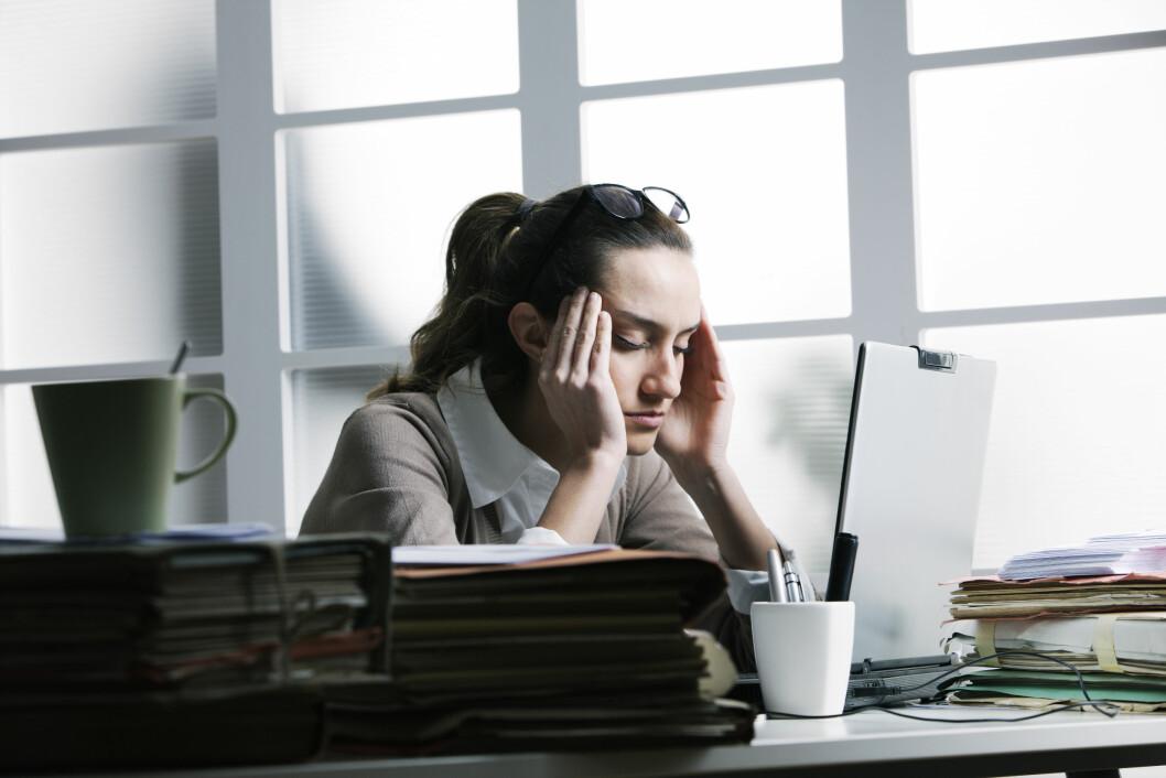 STRESS KAN GI LUKT: Stress øker faren for vond lukt i underlivet.  Foto: Shutterstock / Stokkete