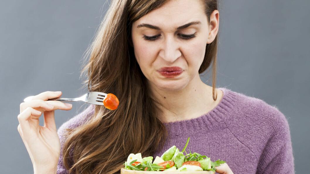 KRESEN I MATVEIEN: Er du kresen? I denne saken forteller ekspertene deg hvordan du kan lære deg å like maten du hater. Foto: Shutterstock / STUDIO GRAND OUEST