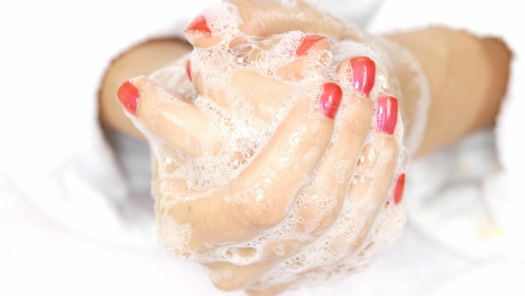 VASKE HENDA, VASK - VASKE HENDA: Ja, gjør som i Lano-reklamen, vask hendene ofte!